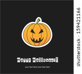happy halloween | Shutterstock .eps vector #159421166