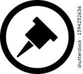 outline circle glyph pin icon