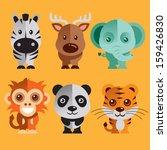 Stock vector funny animals vector illustration 159426830