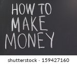 how to make money word on the... | Shutterstock . vector #159427160