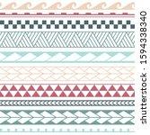 vector ethnic seamless pattern... | Shutterstock .eps vector #1594338340
