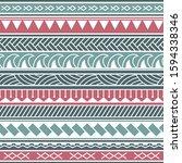 vector ethnic seamless pattern... | Shutterstock .eps vector #1594338346