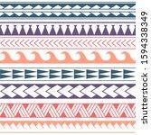 vector ethnic seamless pattern... | Shutterstock .eps vector #1594338349