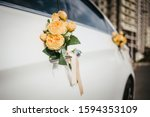 Wedding Decor On The Car Handle....