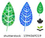 flora leaf mosaic of circle... | Shutterstock .eps vector #1594369219