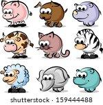 cartoon animal  vector set | Shutterstock .eps vector #159444488