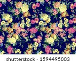 flowers pattern..for textile ... | Shutterstock . vector #1594495003