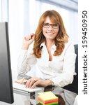 portrait of a smiling mature... | Shutterstock . vector #159450950