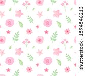 watercolor hand painted roses ...   Shutterstock . vector #1594546213