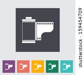 film flat icon. | Shutterstock . vector #159454709