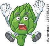 cartoon character of artichoke... | Shutterstock .eps vector #1594551919