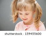 closeup portrait of a little... | Shutterstock . vector #159455600