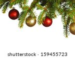 christmas decoration on fir... | Shutterstock . vector #159455723