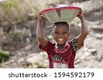 Body Shot Of Cute African Young ...
