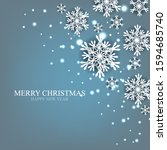 merry christmas party... | Shutterstock .eps vector #1594685740