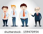 office man characters . vector... | Shutterstock .eps vector #159470954
