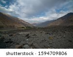 view in wakhan corridor in... | Shutterstock . vector #1594709806