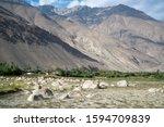 view in wakhan corridor in... | Shutterstock . vector #1594709839