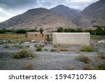 view in the village in wakhan... | Shutterstock . vector #1594710736
