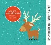 merry christmas  design over... | Shutterstock .eps vector #159471764