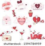 lovely and cutest art for... | Shutterstock .eps vector #1594784959
