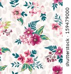 vintage seamless flower mix... | Shutterstock .eps vector #159479000