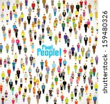 a large group of pixel people... | Shutterstock .eps vector #159480326