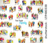 a large group of families... | Shutterstock .eps vector #159480338