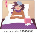 flu or common cold treatment at ... | Shutterstock .eps vector #159480686