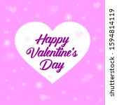 square banner with valentines... | Shutterstock .eps vector #1594814119