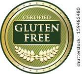 gluten free green label   Shutterstock .eps vector #159482480