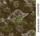 vector seamless thanksgiving ... | Shutterstock .eps vector #159483908