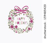 greeting card with a festive... | Shutterstock .eps vector #159485420