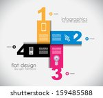 infographic templated with... | Shutterstock . vector #159485588