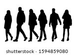 vector silhouettes of  men and... | Shutterstock .eps vector #1594859080