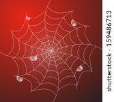 abstract vector white cobweb...   Shutterstock .eps vector #159486713