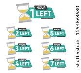 countdown 1  2  3  4  5  6  7... | Shutterstock .eps vector #1594868680