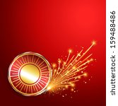 happy diwali burning crackers... | Shutterstock .eps vector #159488486