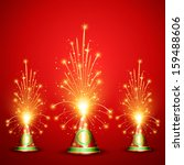 vector diwali crackers... | Shutterstock .eps vector #159488606