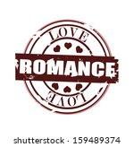 love and romance grunge stamp
