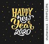 happy new year 2020 golden...   Shutterstock .eps vector #1594912396
