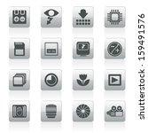 digital camera performance  ... | Shutterstock .eps vector #159491576