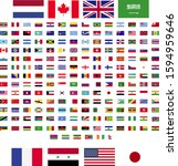 flags of the world. rectangle... | Shutterstock .eps vector #1594959646