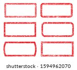 set of six square and... | Shutterstock .eps vector #1594962070