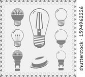 hand drawn lamps of different...   Shutterstock .eps vector #1594962226