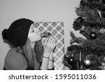 Attractive Woman Kissing Turtl...