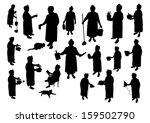 housewife   Shutterstock .eps vector #159502790