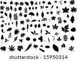 a hundred silhouettes of... | Shutterstock . vector #15950314