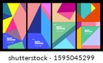 2020 cover and poster design... | Shutterstock .eps vector #1595045299