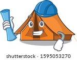 Cheerful Architect Camping Ten...
